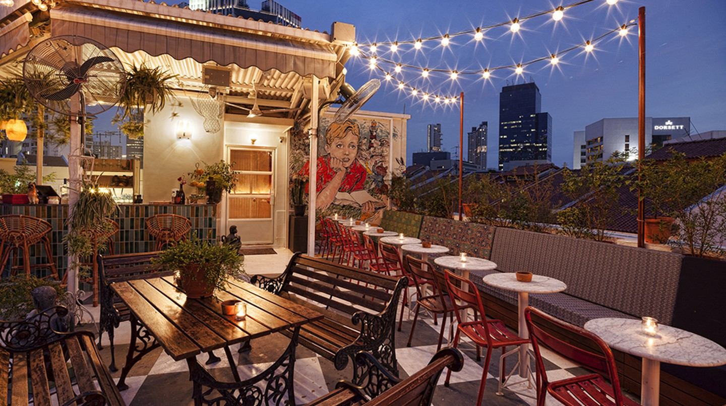 The rooftop bar of Potato Head Singapore