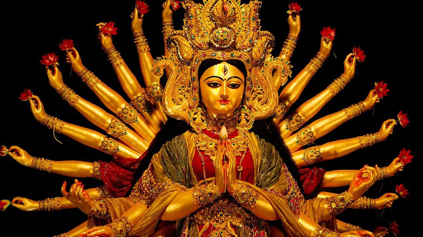 Navaratri is a nine-day festival honouring the nine forms of goddess Durga