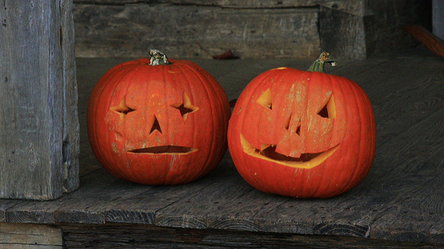Jack-o'-lanterns bring out the Halloween spirit