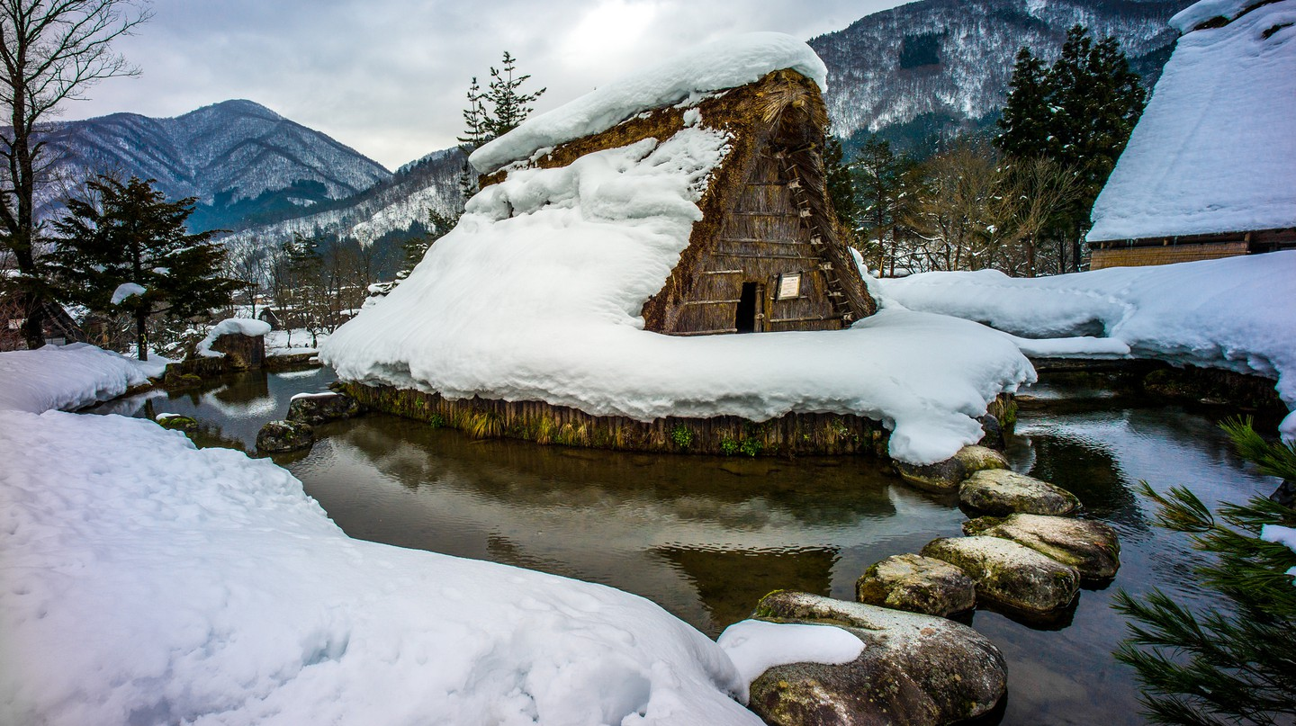 Shirakawa-go in snow