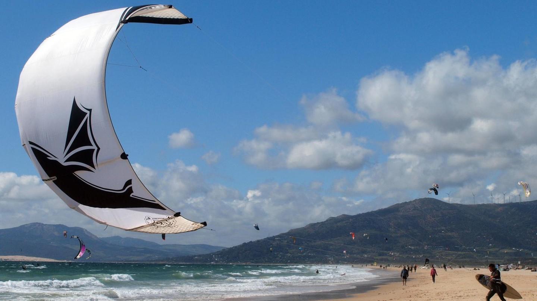 Kitesurfers in Tarifa, Spain
