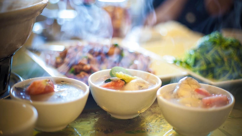A warm soup on a cold Dalat day