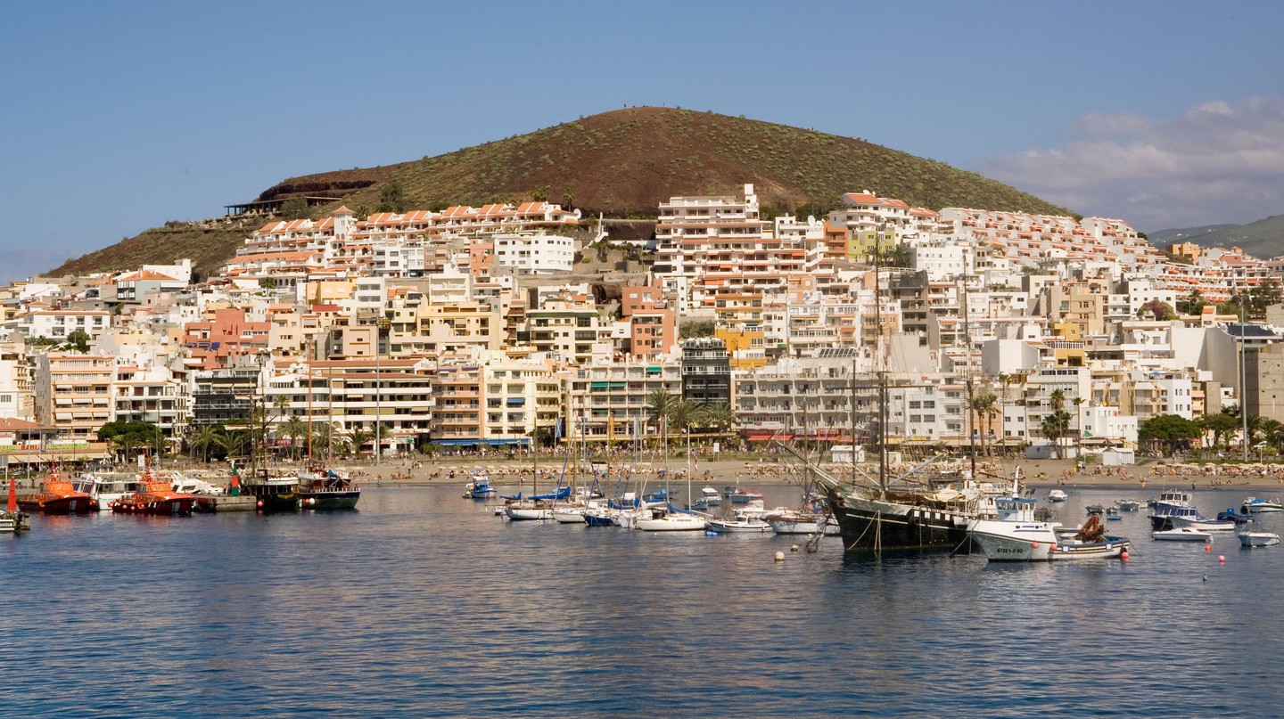 Spain Canary Islands Tenerife Los Cristianos harbour