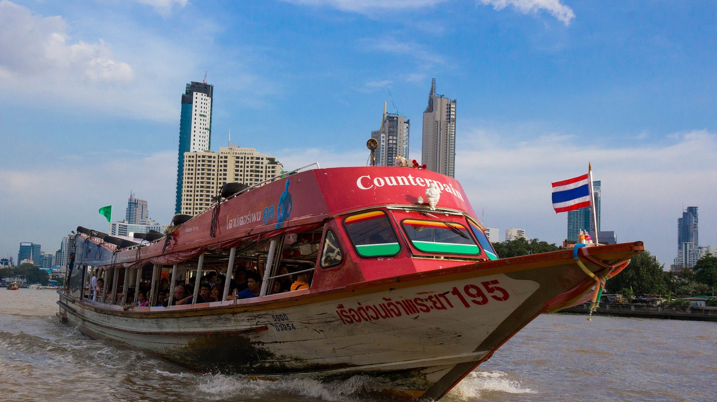 River boats are a popular means of commuter transport among Bangkokians