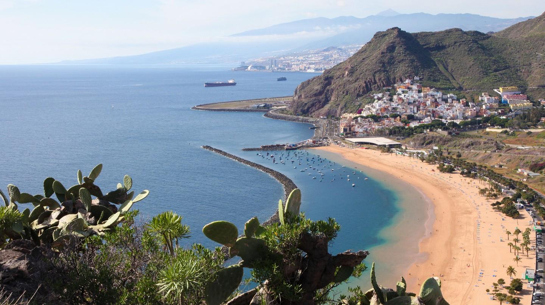 Playa de las Teresitas is in the north of Tenerife
