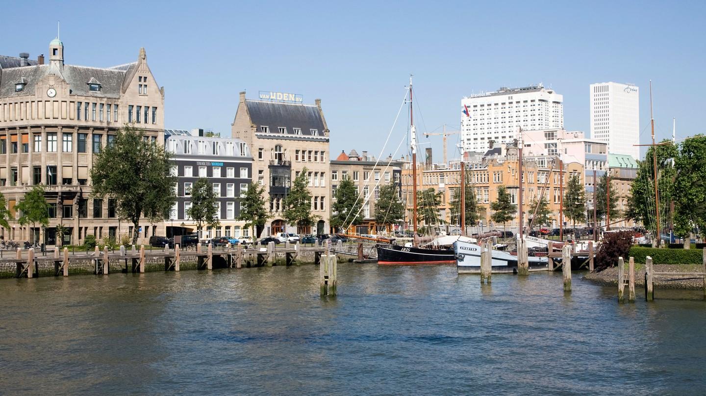Historic Veerhaven harbour, Rotterdam, the Netherlands