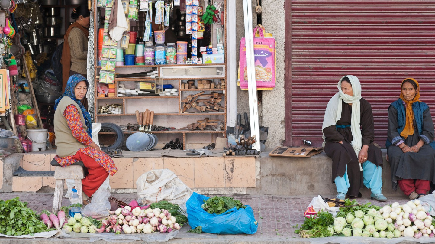 Vegetables on sale at the market, Ladakh, India