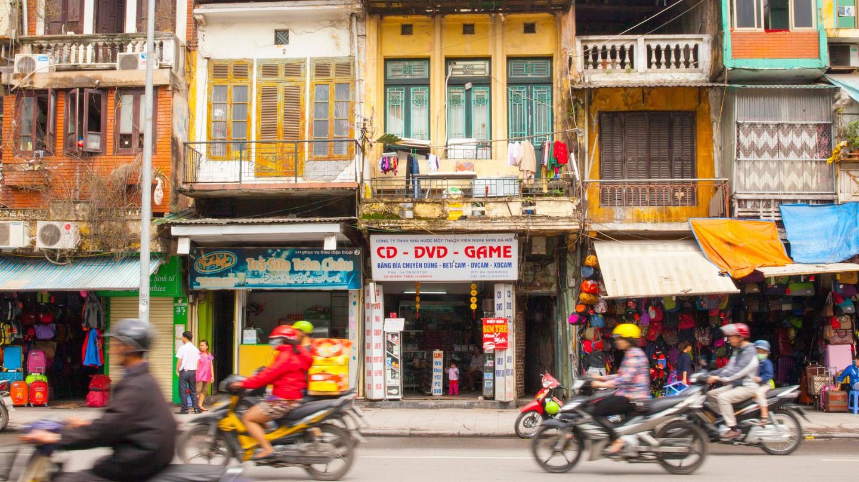 Street scene, old French quarter, Hanoi.