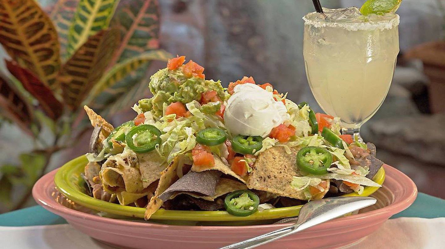 Nachos at El Pinto are an iconic local specialty