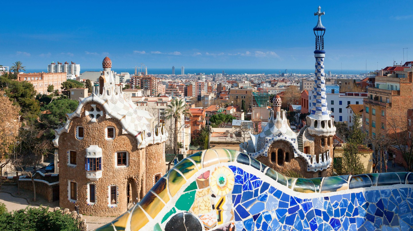 Barcelona skyline from Park Guell