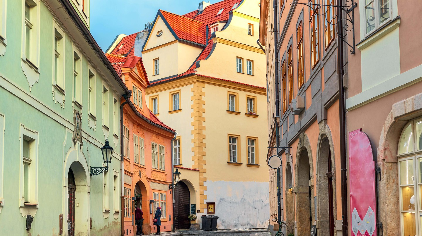 Colourful houses in Old Town of Prague, Czech Republic.