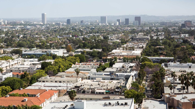 Looking towards downtown LA