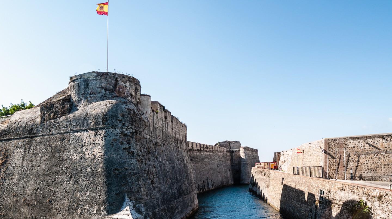 Castillo de Ceuta, España.