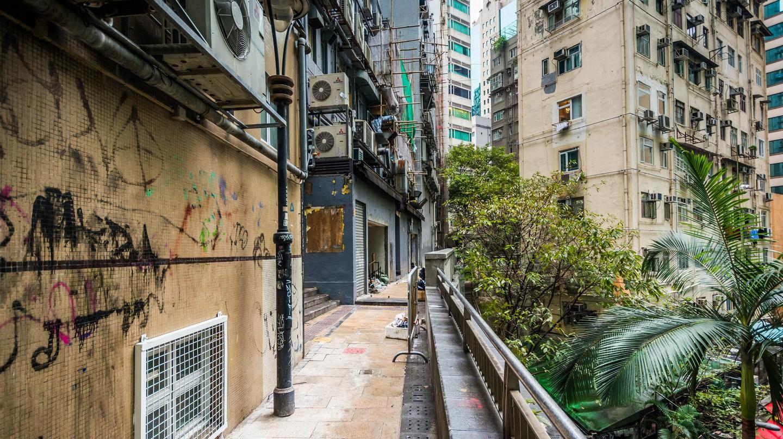 Hong Kong's Kwai Fong is a warren of narrow alleyways