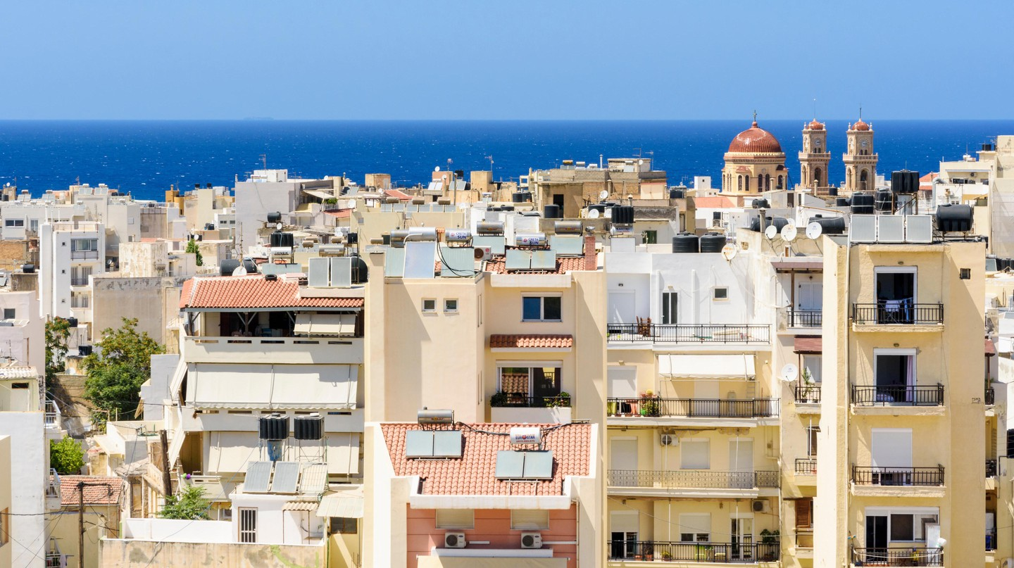 Cityscape of Heraklion, Crete, Greece