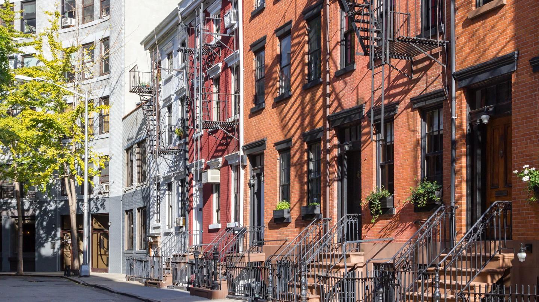 Old buildings along Gay Street in Greenwich Village