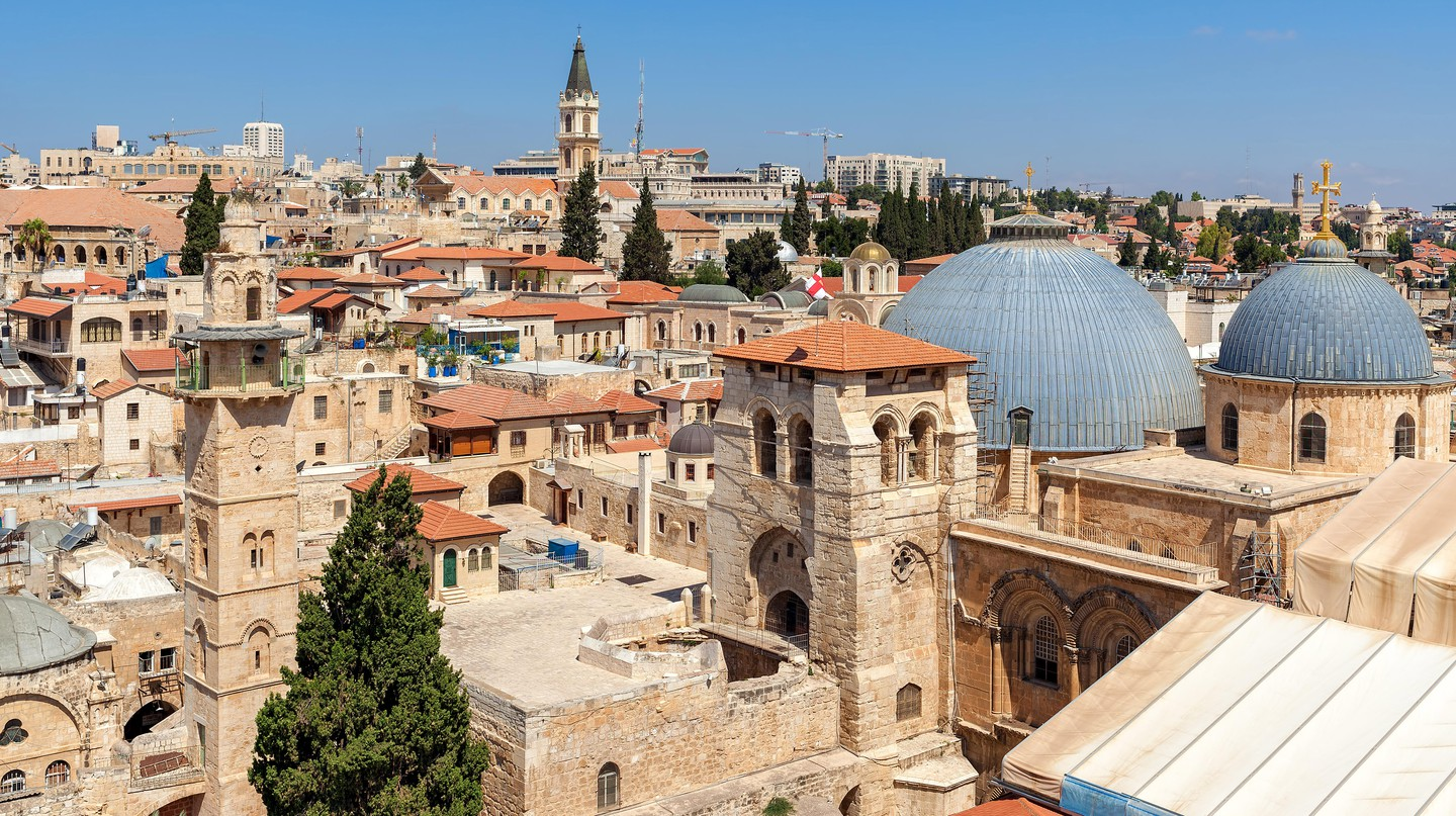 The rooftops of the Old City of Jerusalem make for a glorious sight on a sunny day