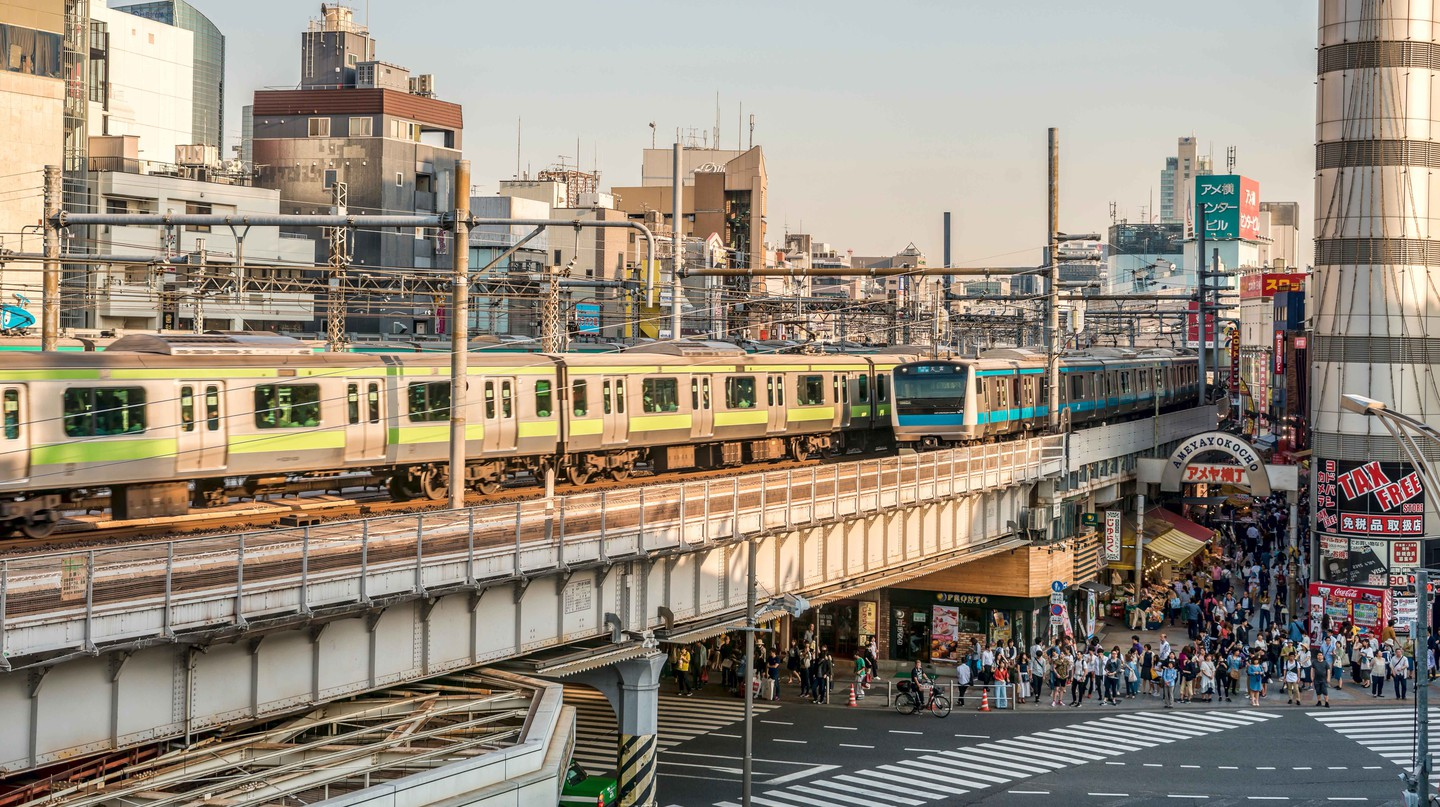 Cityscape at the Ueno Business District, Tokyo, Japan