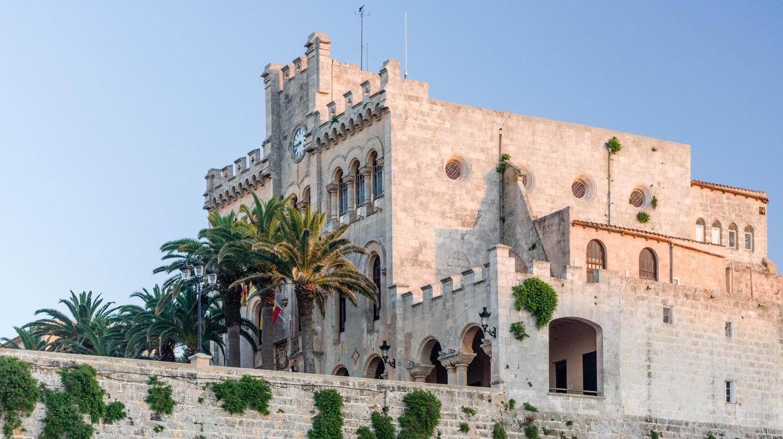 Town hall in Ciutadella, Menorca.