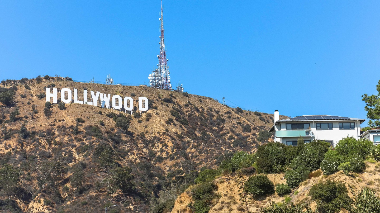The iconic Hollywood Sign overlooks Los Angeles