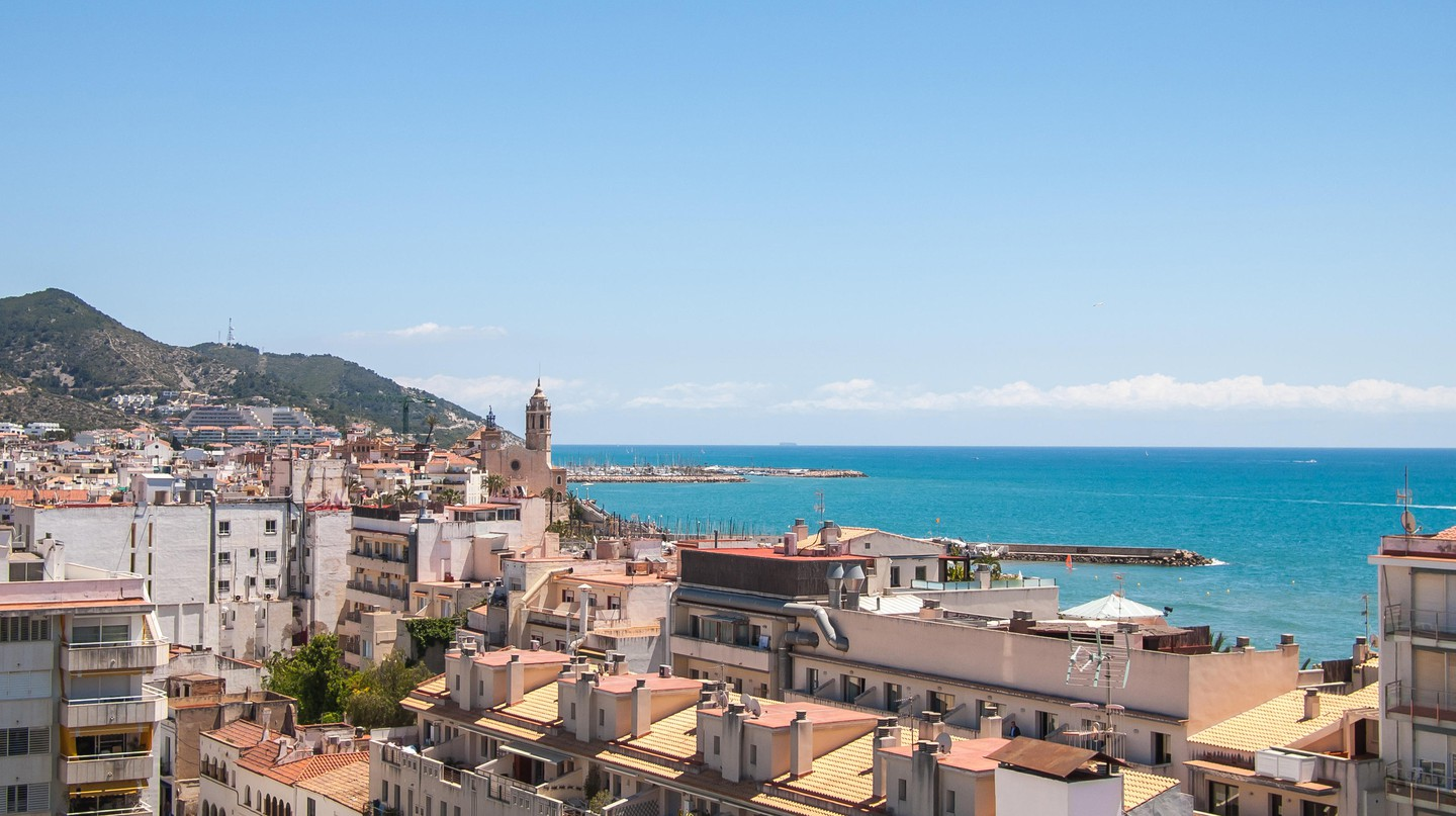 View of the Sitges skyline, Spain