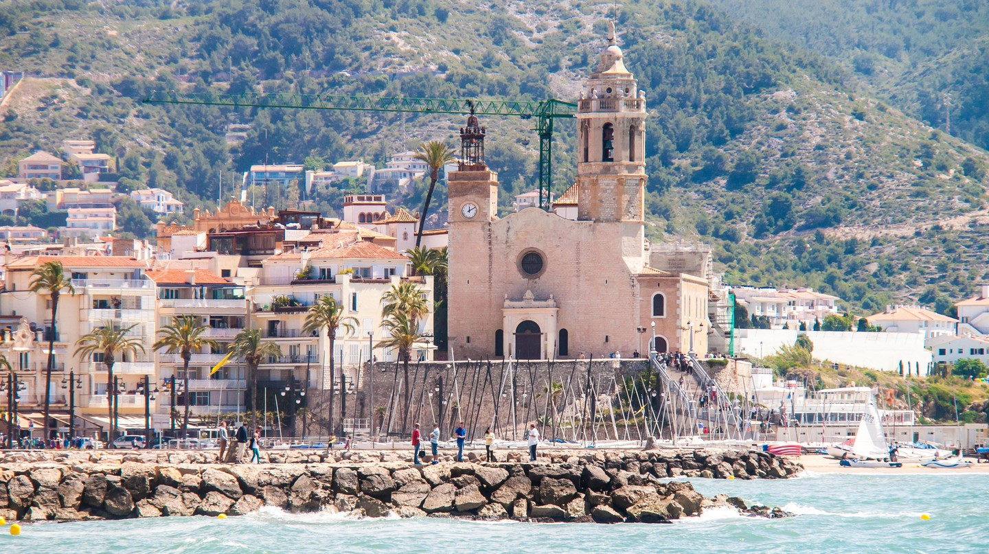 Long view of the Sitges church