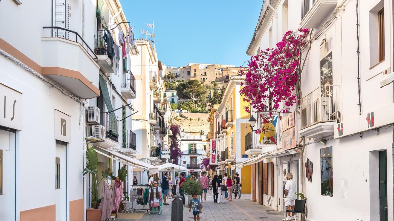 Ibiza old town, Spain.