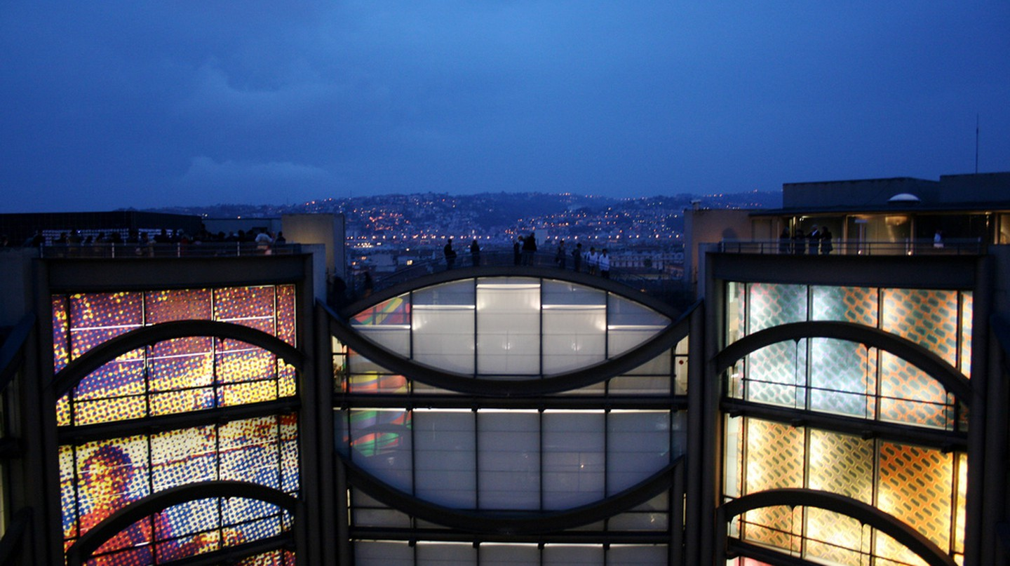 The MAMAC roof terrace in Nice