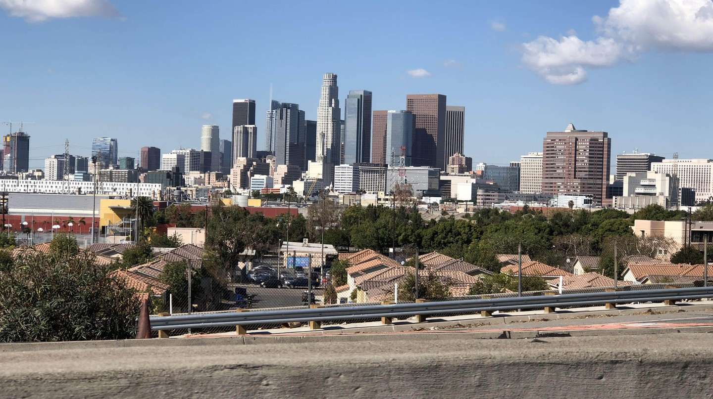 Downtown Los Angeles city skyline