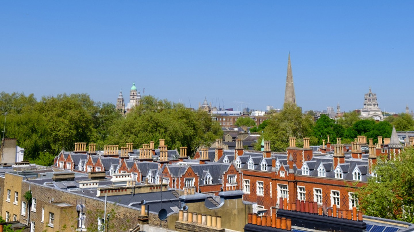 Residential skyline of West London