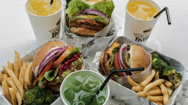 Boxed burgers at Vegan Burg