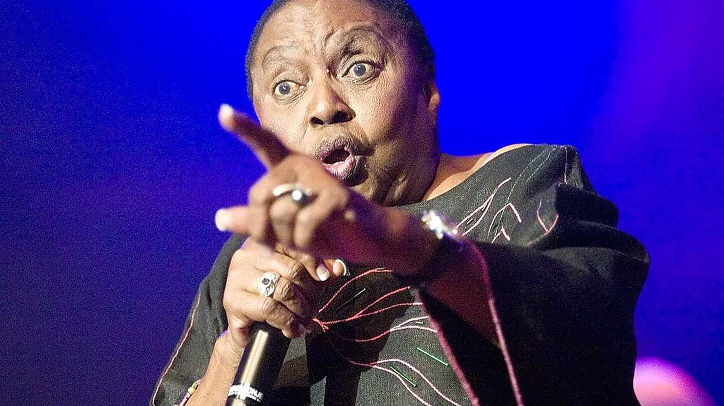 Miriam Makeba had a powerful stage presence