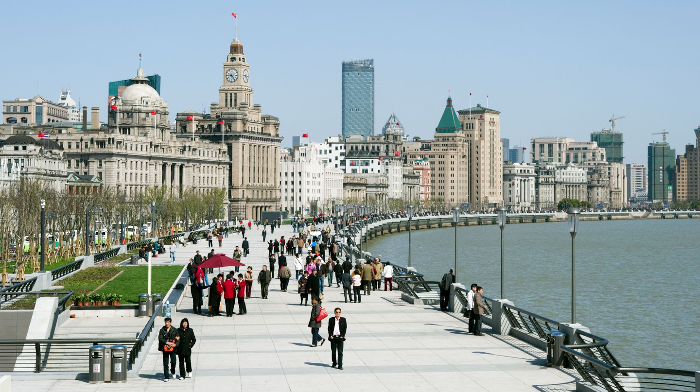 Some of Shanghai's most historic buildings line the Bund promenade