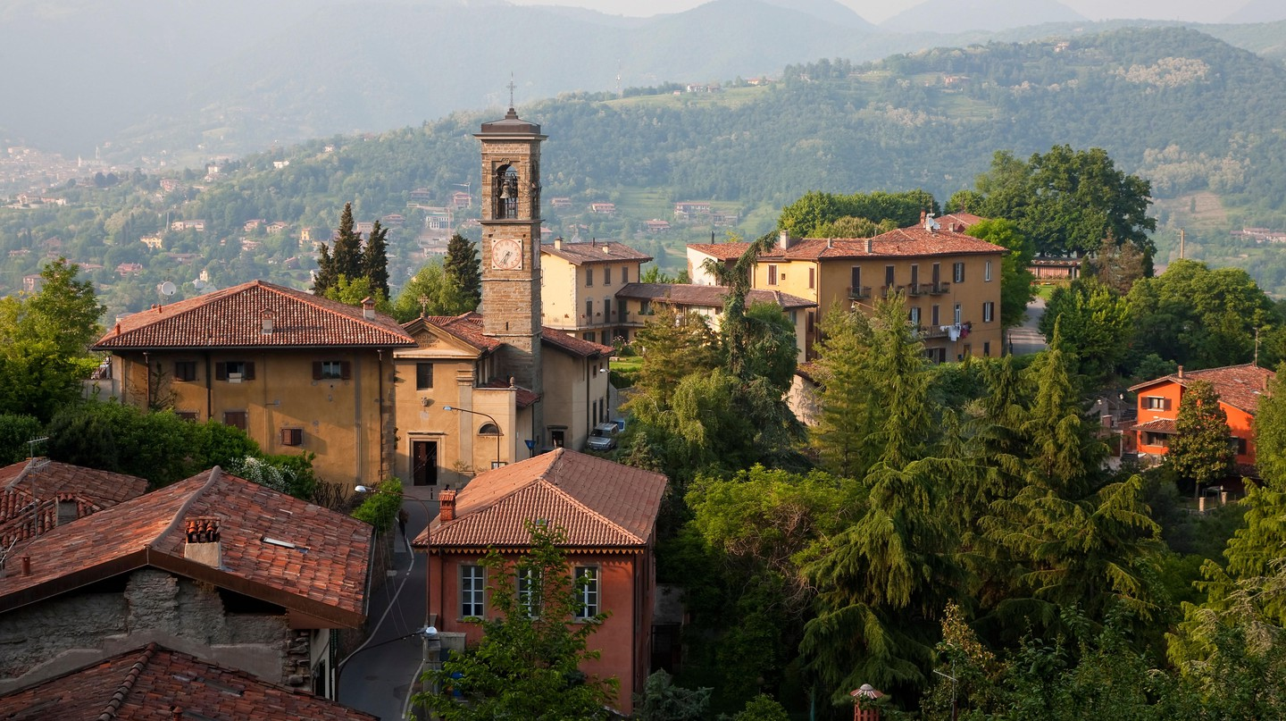 View over Bergamo, Lombardy, Italy