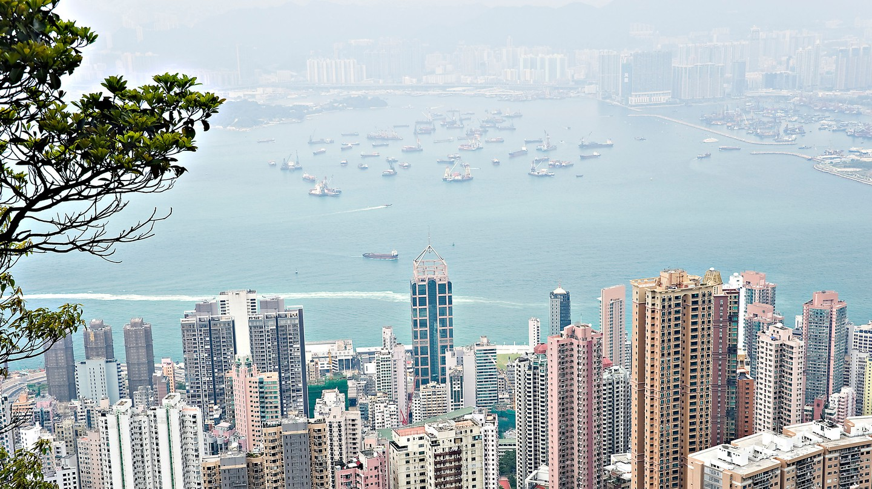 View of Hong Kong Island from Peak Walk