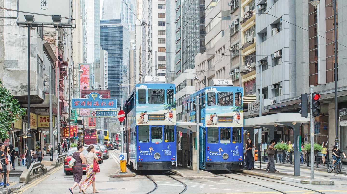 The streets of Sheung Wan, Hong Kong, are lined with trendy cafés, bars and restaurants