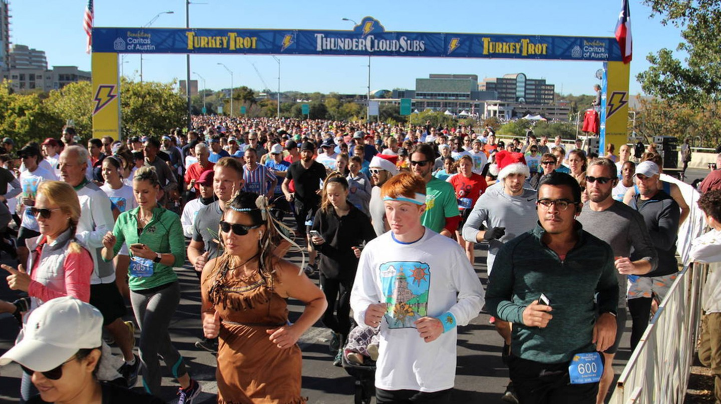 With nearly 20,000 participants, ThunderCloud's Trot is a cherished Thanksgiving Day tradition in Austin