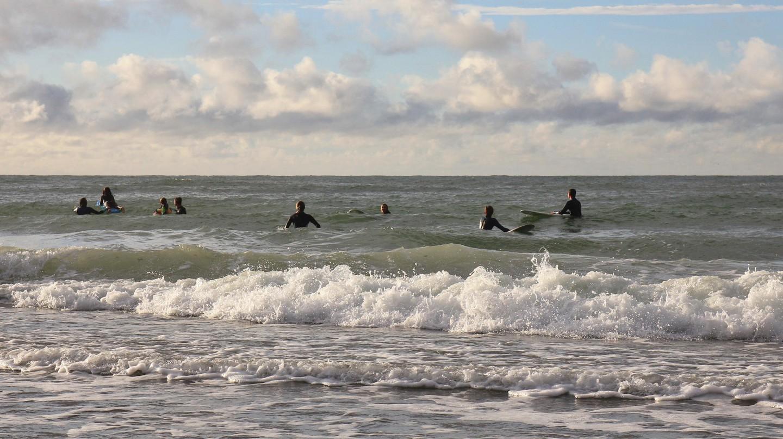 Surfers await the big one in Klitmøller ('Cold Hawaii')