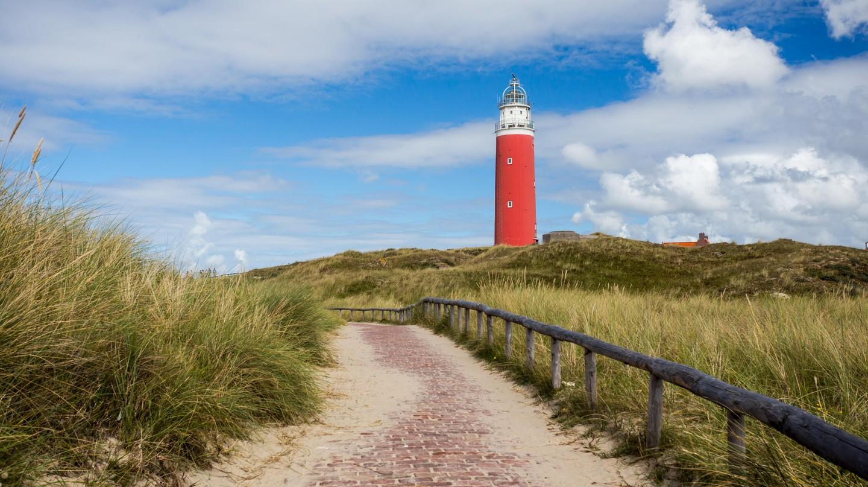 Eierland Lighthouse on the Dutch island of Texel