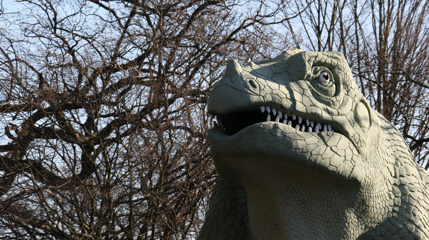 The Crystal Palace dinosaurs were first unveiled to the public in 1854