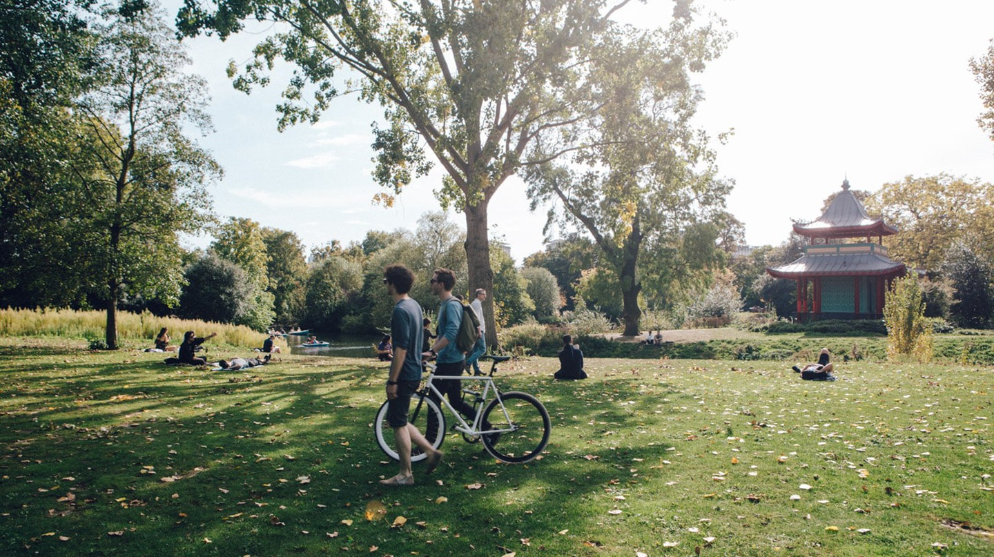 Cycle to Victoria Park during your stay in East London