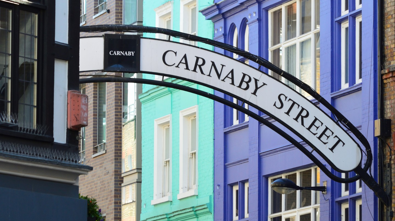 Carnaby Street, in London's Soho, is a major menswear destination