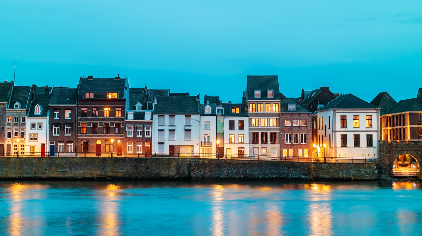 The River Maas flows through the Dutch city of Maastricht