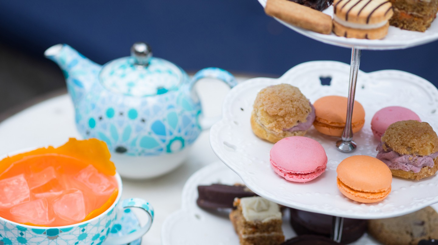 Teatime is quite colorful at Brooklyn's Williamsburg Hotel