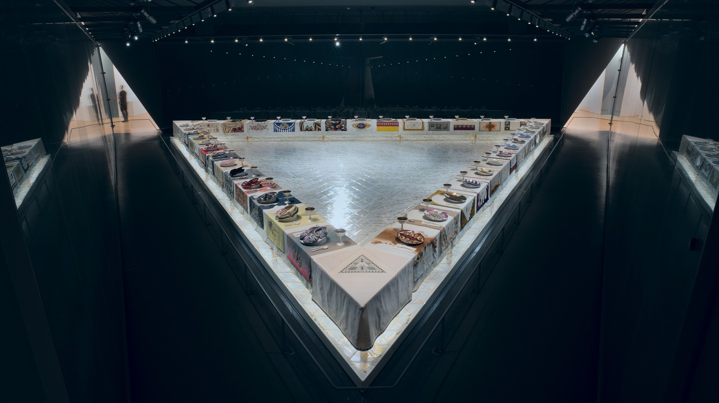 Judy Chicago's 'Dinner Party' remains controversial