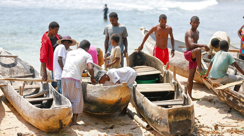 Fishermen in Madagascar