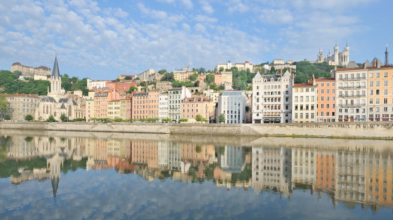 The Rhône and the Saône converge in Lyon