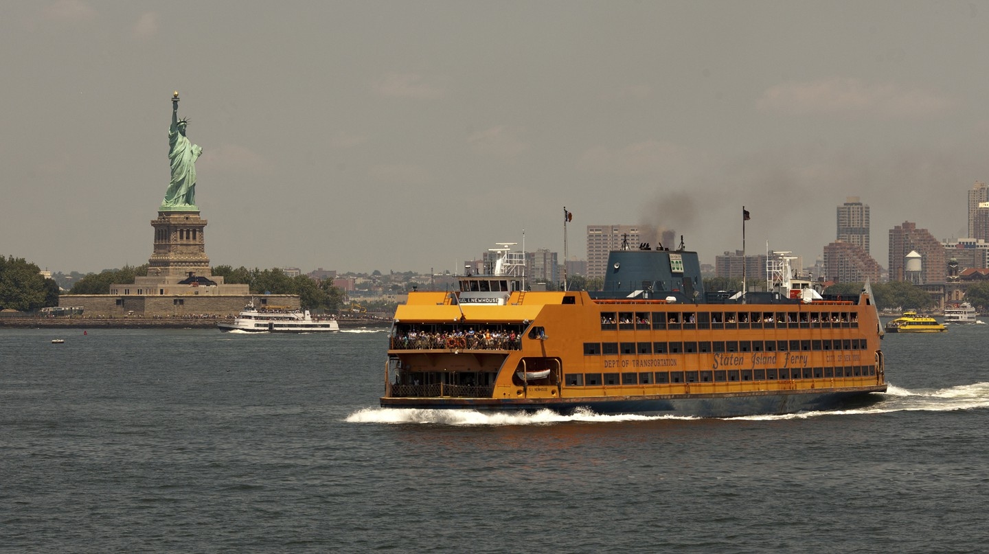The Staten Island Ferry carries 22 million people a year