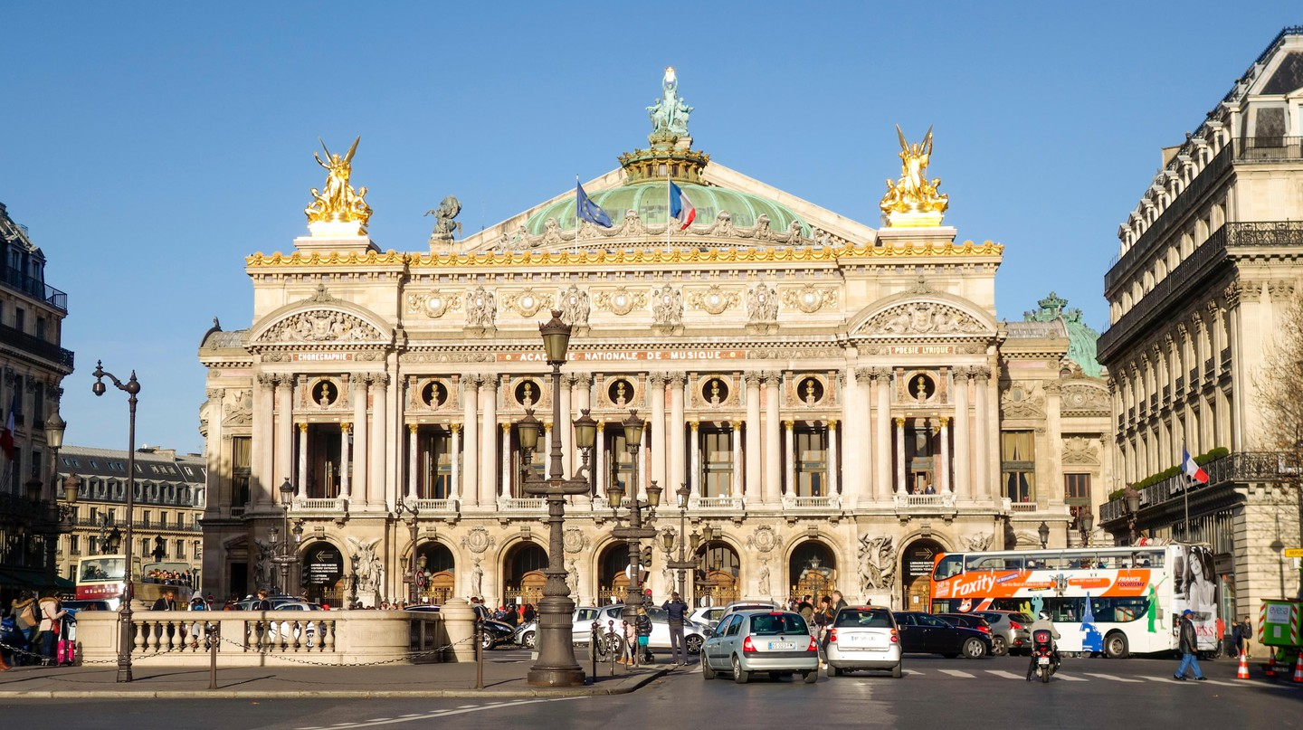 The Palais Garnier sits in the 9th arrondissement in Paris