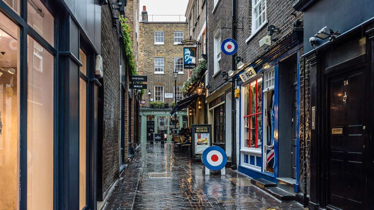 Carnaby Street is at the heart of Soho